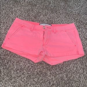 Pants - Abercrombie & Fitch pink shorts